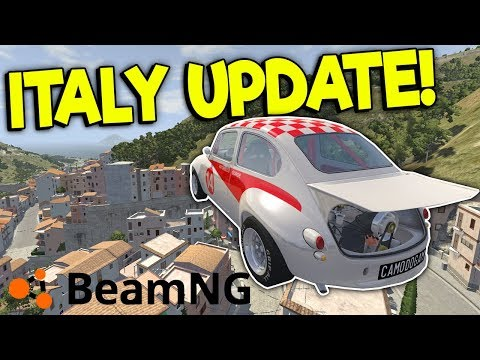 NEW ITALY MAP UPDATE & NEW CARS! - BeamNG Gameplay & Crashes