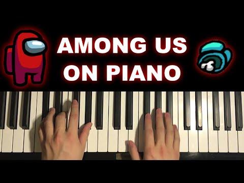 AMONG US SOUNDS ON PIANO
