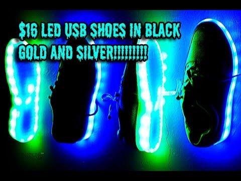 $16 LED USB SHOES FESTIVAL RAVE EDM FOOTWORK DANCING