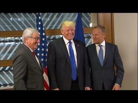 Βρυξέλλες: Συνάντηση Τραμπ με Γιούνκερ και Τουσκ