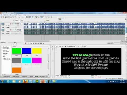 Sony Vegas Tutorial: How To Make Your Own KARAOKE Version Of Any Song!