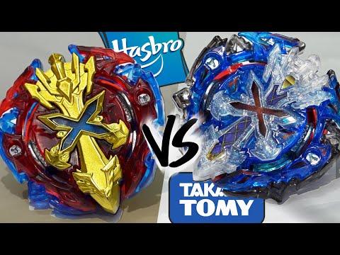 Hasbro Vs Takara Tomy Xcalius X2 Xeno Xcalibur M I Beyblade Burst