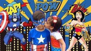 CAPITÃO AMÉRICA E MULHER MARAVILHA Vs VILÃ !!! (Especial Dia das Crianças) - #SóPorCausa