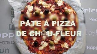 Du chou-fleur dans la pâte à pizza!
