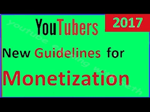 YouTube new guidelines updated about adds on 1 june 2017 for advertiser friendly content in Urdu /Hi
