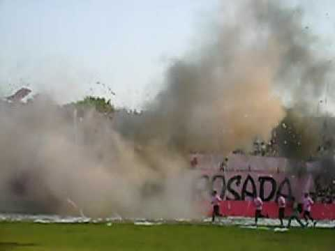 recibimiento rosado - Barra Popular Juventud Rosada - Sport Boys