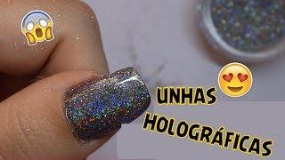Curso de manicure - Unhas Decoradas Passo a Passo - UNHAS EFEITO HOLOGRÁFICO