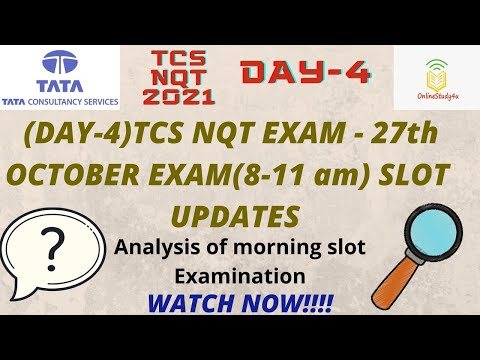 TCS nqt 2021 27th october exam analysis | 8-11 am shift updates