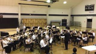 Goessel JH Band at WSL Contest 3-7-17