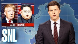 Video Weekend Update on Kim Jong-un Meeting with Donald Trump - SNL MP3, 3GP, MP4, WEBM, AVI, FLV Maret 2018