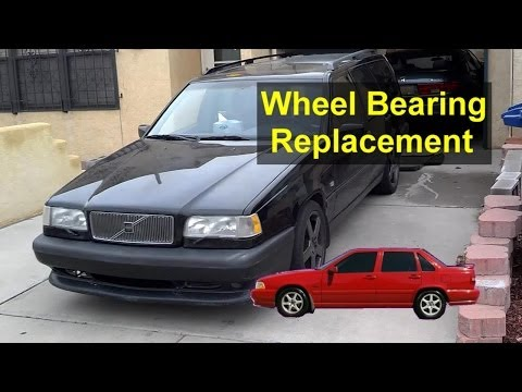 Front wheel bearing hub replacement, Volvo 850, S70, V70 - VOTD