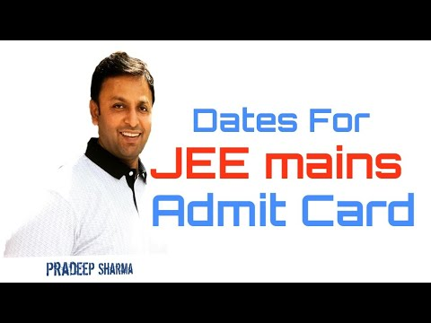 Admit card of JEE mains 2019