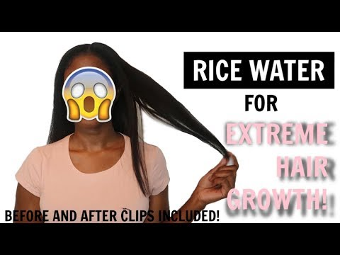 Rice Water For Extreme Hair Growth?! 5 Day Challenge Results!! Before And After.