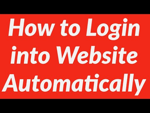 How To Login Into Website Automatically Using VBA