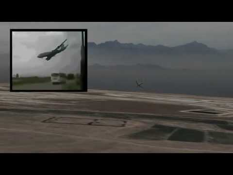 Afghanistan 747 crash additional angles (original footage + CGI)