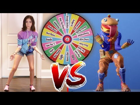 FORTNITE DANCE MYSTERY WHEEL CHALLENGE!! (In Real Life)