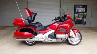 4. 2016 Honda Gold Wing Walk-Around Video | Candy Red GL1800 Touring Motorcycle