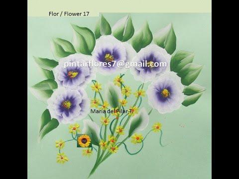 Flowers One stroke. Flores One stroke. Blumen malen. Картина цветы. Flor 17