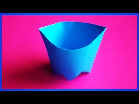 Стаканчик из бумаги оригами