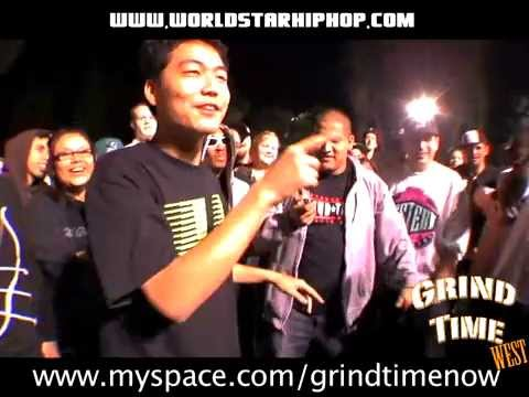 dumbfoundead - Visit us at: http://grindtimenow.net/ November 15th 2008. One of the most heated battles to ever take place on the Grind Time Cameras. Dumbfoundead from LA t...