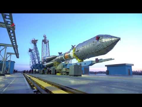 Вывоз РКН «Союз-2.1а» с КА «Канопус-В» № 3 и № 4