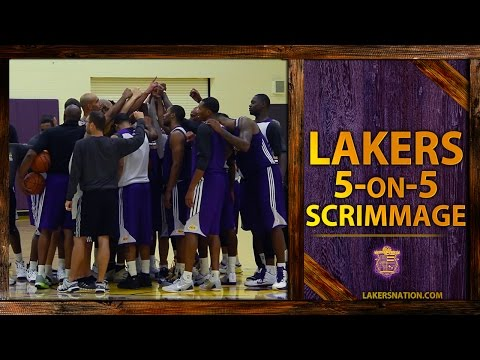 Video: Lakers Practice Footage: 5-On-5 Scrimmage, Kobe Bryant, Steve Nash, Jeremy Lin