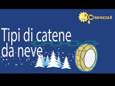 Catene da neve, i tipi in commercio - Guide di Chiarezza.it