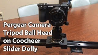 Here's the Pergear swiveling ball head on a Coocheer slider dolly. I'm shooting with the Sony A6500 in the examples. I think this is a really nice head that is quality made for only about $22. It works great with the slider, and is rock solid with the A6500 mounted on top. I include a few motion shots in the video to show how it all works. Highly recommended. Here's a link to the product: https://goo.gl/7eVFka