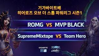 파워 리그 8강 6일차 2경기 SupremeMixtape VS Team Hero