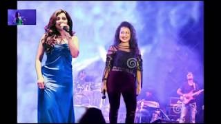 shreya ghoshal and neha kakkar live together letest song performance on stege 2017 HD video in concert live bollywood hit song.