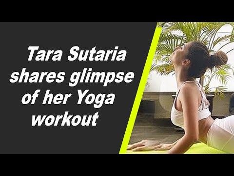 Tara Sutaria shares glimpse of her Yoga workout