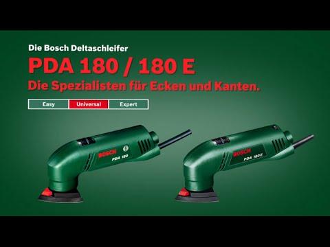 Bosch stellt vor: Deltaschleifer PDA 180 und PDA 180 E