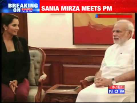 open - Tennis ace Sania Mirza who on Sep 5 won the US Open mixed doubles title with her Brazilian partner Bruno Soares at the Arthur Ashe Stadium in New York, has today (Sep 12) met Prime Minister...