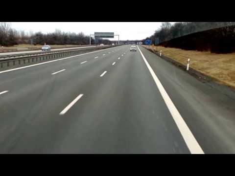 Autobahn A9 bei Leipzig (Sachsen) / 28.01.2018