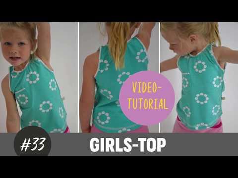 Mädchen Top/ Shirt ganz einfach selber nähen     DIY-Näh-Tutorial