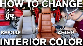 Video How to Change Car Interior Color with Dye MP3, 3GP, MP4, WEBM, AVI, FLV Juli 2019