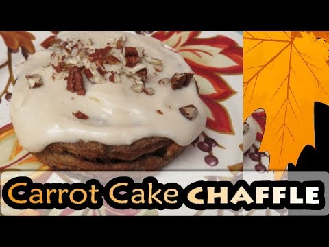 Carrot Cake Chaffle with Cream Cheese Frosting