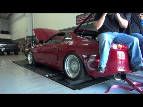 dyno - A local '94 Supra came by DST Motorsports for a few dyno runs, both low and high boost passes. On the high boost setting this monster managed just shy of 110...