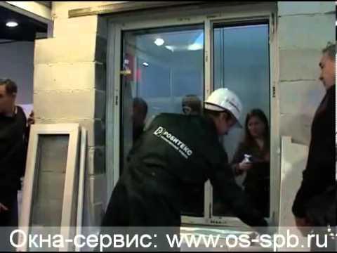 Видео Монтаж металлопластиковых окон. Часть 5