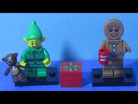 Lego Minifigures Series 11 Blindbag Unboxing - Gingerbread Man and Holiday Elf