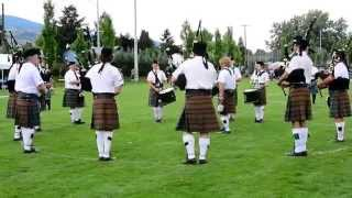 2014 Penticton Highland Festival - Kamloops Pipe Band Medley