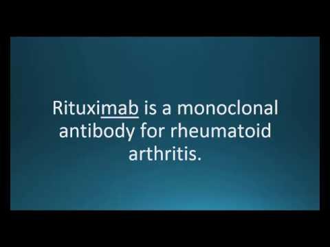 How to pronounce rituximab (Rituxan) (Memorizing Pharmacology Video Flashcard)