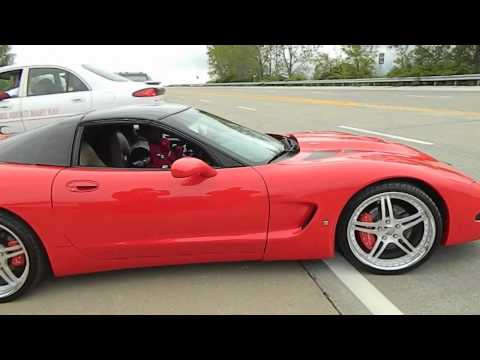 Corvette's illegal donuts result in hit-and-run