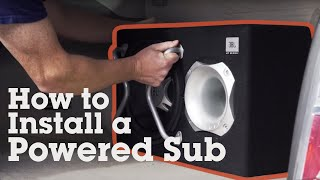 8. How to install a powered subwoofer in your car | Crutchfield video