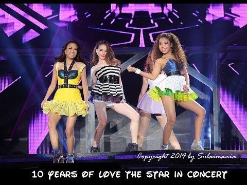 บอกตรงๆ รักจังเลย น้องดี เชอรีน แบมบี้ @ 10 Years of Love The Star In Concert 28.06.14 (видео)