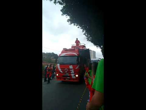 Passagem da Tocha Olímpica em Paraíba do Sul no dia 29 de Julho