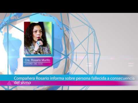 Compañera Rosario informa sobre persona fallecida a consecuencia del sismo