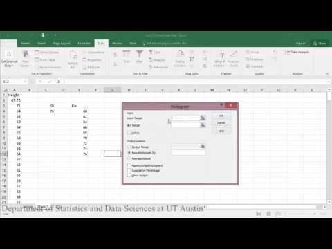 Frequency Distribution and Histogram Excel 2016