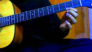 Tutorial for Tujhe Dekha Toh Yeh jaana Sanam Acoustic Guitar tutorial and tab REALLY EASY!
