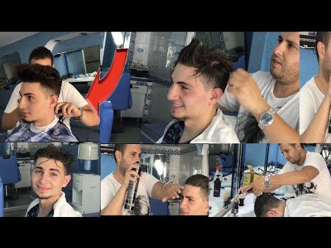 Mens hairstyles - HAIRSTYLE STRAIGHTENING KERATIN . AMAZING TRANSFORMATION لن تصدق ماذا فعل #الحلاق بشعر يوسف_قباني